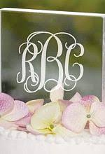 monogram initials and name cake toppers wedding collectibles