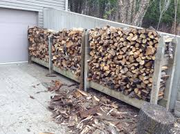 Outdoor Firewood Shed Plans by Homemade Outdoor Firewood Rack Storage Made From Reclaimed Wood Ideas