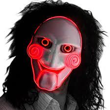 creepy mask neon nightlife men s light up saw creepy