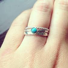 turquoise birthstone stacking rings turquoise ring silver stacking rings rings