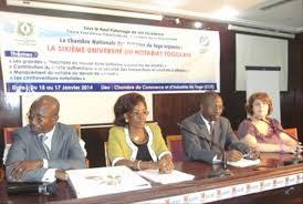 chambre nationale des notaires ouverture de la sixième université du notariat togolais par la