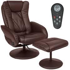 pu leather massage recliner ottoman set w control 5 heat