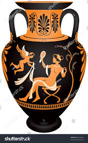 Greek Black Figure Vase Painting Vase Painting Clipart Athenian Pencil And In Color Vase Painting