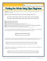 finding the the whole using tape diagrams 6th grade ratio worksheets