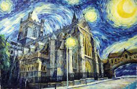 starry night over dublin u201cchrist church u201d u2013 old masters