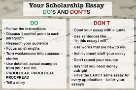 samples of scholarship essays for college how to write a winning scholarship essay in 10 steps dosdontsscholes