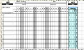 Sheets Template Excel Attendance Sheets 2013