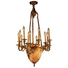 Chandelier Canopy by French Bronze And Alabaster Chandelier Chandeliers Neoclassical