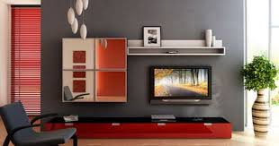 Elegant TV Stand Furniture In Small Modern Living Room Interior - Home tv stand furniture designs