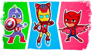 pj masks superhero coloring pages pj masks as spiderman iron man