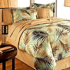 9 king tapestry palm bedding comforter set home