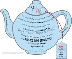tea party invite template free google search card table
