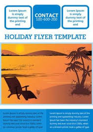 holiday travel flyer template free holiday flyer templates