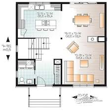 open house plans with large kitchens house plan w3714 detail from drummondhouseplans com
