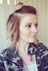 side buns for shoulder length fine hair 30 short hairstyles for fine hair