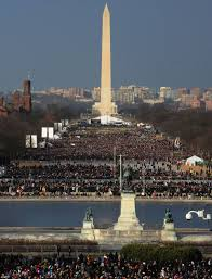 picture of inauguration crowd obama inauguration 2013 barack and michelle attend event at