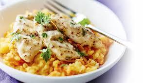 cuisiner des aiguillettes de poulet aiguillettes de poulet à la moutarde et au citron écrasée de