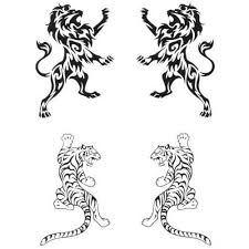 new tribal tattoo design of lion and tiger tattooshunter com