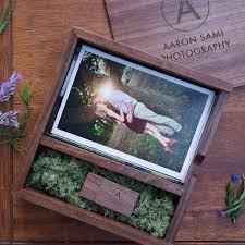 engravable photo album free logo or words names engraving wooden photo album box usb 3 0