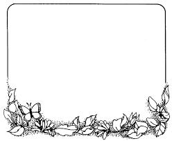 flower frame clipart black and white