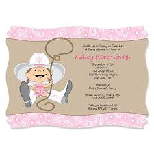 western personalized baby shower invitations