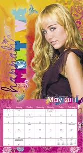 2011 hannah montana wall calendar day dream 9781423804062