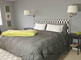 Wall Mounted Headboard Bedroom King Upholstered Headboard With Double Wall Mounted Lamp