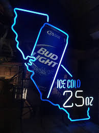 bud light lighted sign bud light 25 oz neon sign collectibles in anaheim ca