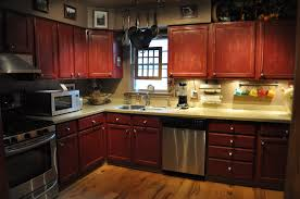 kitchen with dark wood cabinets perfect home design