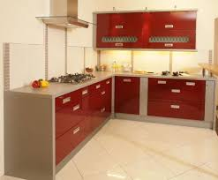 Red Kitchen Backsplash Kitchen Modern Red Kitchen Cabinet With Black And Gray Backsplash
