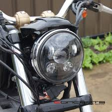 black led headlight insert fits harley super glide fxr 1986