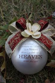 in memory of ornaments centerpiece ideas