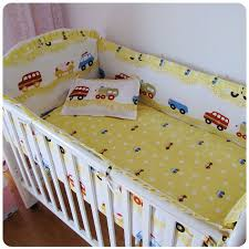 Infant Crib Bedding Promotion 6pcs Car Baby Bedclothes For Cot And Cribs Reusable And