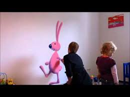 DIY Decorationg Idea For Kids Room Cute Bunny Wall Painting - Wall paint for kids room