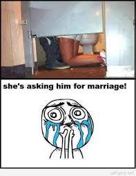 Wedding Proposal Meme - funny marriage proposal in a bathroom
