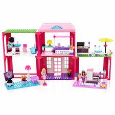 mega bloks build u0027n play barbie fab mansion walmart com