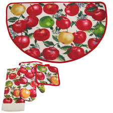 Apple Kitchen Rug Sets Orchard Printed 4 Kitchen Rug Set