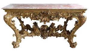 Italian Console Table Console Tables Monumental Italian Carved Gilded Wood Console