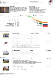 Tableau Resume Samples by Resume Infographs Charts And Graphs Make An Infographic Resume