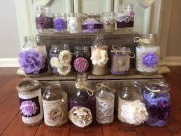 bulk burlap lavender lilac wedding decor 15 bulk burlap lace jars and