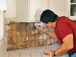 How To Install Tile Backsplash In Kitchen Install Tile Over Laminate Countertop And Backsplash How Tos Diy