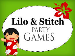 lilo and stitch party games and printables