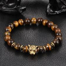 natural beads bracelet images Leopard charm natural stone beads bracelet ancient explorers jpg