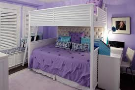 Purple Bunk Beds Purple And Teal Bedroom With Bunk Bed