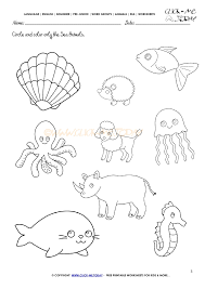 animals worksheet activity sheet circle 3