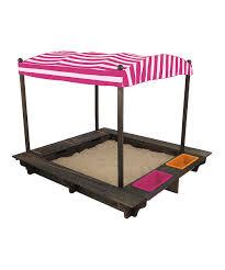 kidkraft pink outdoor sandbox u0026 canopy zulily