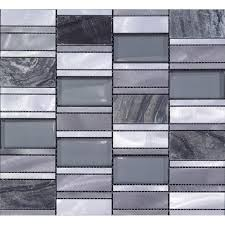 Mosaic Tiles Emperador Dark Marble Floor Sticker Brush Stainless - Glass and metal tile backsplash