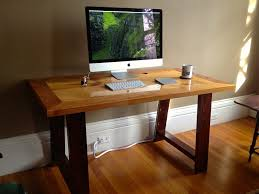 Computer Desk Wood Made Industrial Mill Inspired Reclaimed Wood Desk By Cooper S