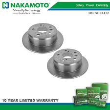 lexus es300 issues nakamoto rear solid brake rotors pair set for toyota camry solara