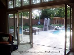 glass wall house solar innovations inc introduces folding glass wall and door